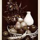 Still Life with Vase and Cumquats by George Petrovsky
