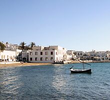 Mykonos seascape by kateabell