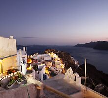 Santorini Sunset by kateabell