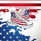 American Teen Patriotic Shoes iPad Case / iPhone Case / T-Shirt / Prints / Samsung Galaxy Cases  by CroDesign