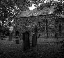 Escomb Saxon Church Monochrome by Andrew Pounder