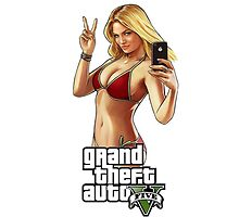 Grand Theft Auto 5 Babe case White by Bergmandesign