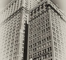 Manhattan Towers of the early 20th Century, old sepia postcard by Reinvention