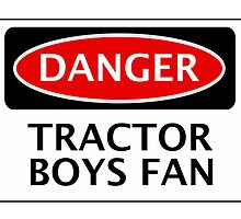 DANGER IPSWICH TOWN, TRACTOR BOYS FAN, FOOTBALL FUNNY FAKE SAFETY SIGN by DangerSigns