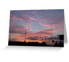 Sunset over Hove Greeting Card
