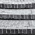 Brick Steps in Black and White by Natalie Kinnear