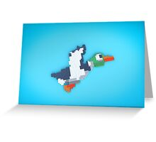 8-Bit Duck Greeting Card