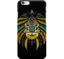 Emperor Tribal Lion Black iPhone Case/Skin