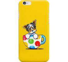 Biewer Yorkie Polka Dot Cup iPhone Case/Skin