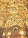 domes at Jerónimos Monastery. watercolor by terezadelpilar~ art & architecture