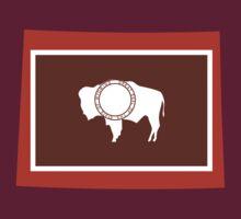 Wyoming [Red Orange]   Flag State   SteezeFactory.com by FreshThreadShop