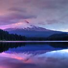 Trillium Lake At Dusk by Jennifer Hulbert-Hortman