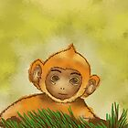 Baby monkey by Helenave