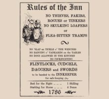 Rules of the Inn - Retro Rules of Drinking - Serving Wench by UchimataMan