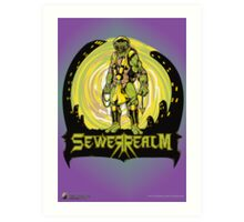 SewerRealm -Yellow Art Print