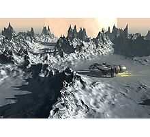 Ice Planet Twilight Photographic Print