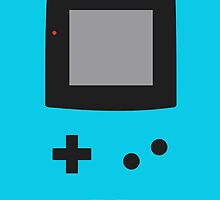 Old School Game Boy Color Blue for iPhone by alish