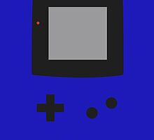 Old School Game Boy Color DarkBlue for iPhone & Poster by alish
