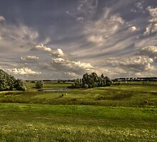 Beautiful sky over a country view by Nicole W.