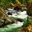 Takhanne River above Million Dollar Falls by Yukondick