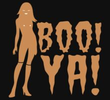 BOO! YA! sexy woman figure Halloween laugh  by jazzydevil