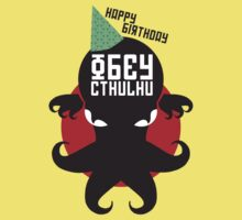 Happy Birthday HP Lovecraft - Obey Cthulhu Design Kids Clothes
