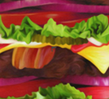 Triple Bacon Cheeseburger Sticker