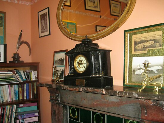 Carriage Clock On Mantlepiece by BlueMoonRose