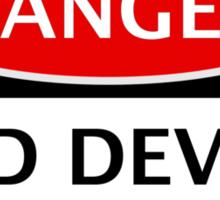 DANGER MANCHESTER UNITED, RED DEVILS FAN, FOOTBALL FUNNY FAKE SAFETY SIGN Sticker