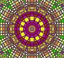 Mosaic Kaleidoscope 3 by MSRowe Art and Design