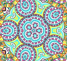 Kaleidoscopic Whimsy by MSRowe Art and Design