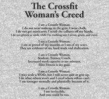 The Crossfit Woman's Creed by Look Human