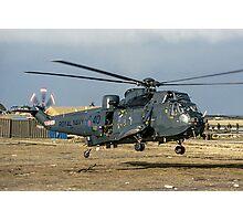 Westland Sea King HAS.5 ZA136/B-40 at RAF Stanley Photographic Print