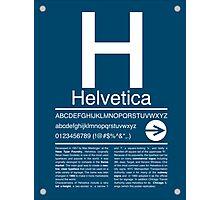 Helvetica Type Specimen Photographic Print
