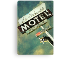 La Crescenta Vintage Motel Sign Canvas Print