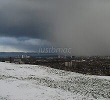 Firth of Forth: Advancing Snow Storm by justbmac