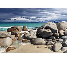 Beach Boulders- Tasmania Photographic Print