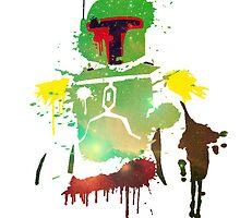 Ink Boba Fett by Cookiecutter60