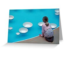 The Calm of Water Chimes  Greeting Card