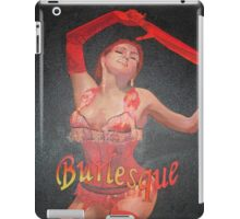 Burlesque Dancer Wearing Vintage Red Corset and Gloves iPad Case/Skin