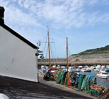 Lyme Harbour 21st August 2013 by lynn carter