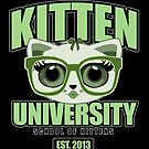 Kitten University - Green 2 by Adamzworld