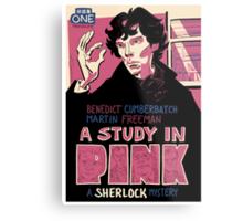 Vintage Poster - A Study In Pink Metal Print