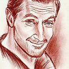 Richard Armitage, sanguine portrait by jos2507