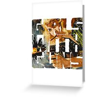 Girls With Guns Logo Greeting Card