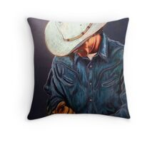 Chisholm...Portrait Of A Cowboy Throw Pillow