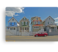 Painted Ladies of Somers Point NJ Canvas Print