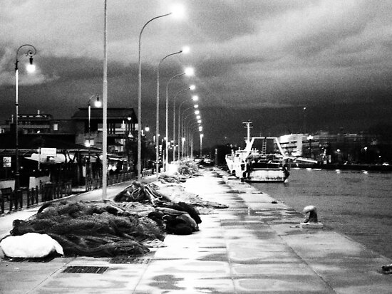 The dock on the river at night N°2 by orsinico