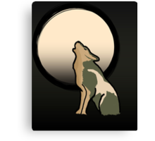 Wolf Link Moon (Twilight Princess) Canvas Print