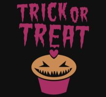 TRICK OR TREAT hallwoeen cupcake cute! by jazzydevil